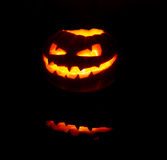 Страшный фонарик Jack'o Стоковое фото RF