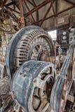 Страшным дом покинутый город-привидением минируя на шахте хищника стоковое изображение rf