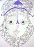 Стрелец знака зодиака Нарисовано вручную бесплатная иллюстрация