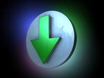 стрелка вниз зеленеет Стоковое Фото
