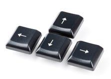 стрелка застегивает клавиатуру Стоковые Изображения RF