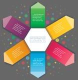Стрелка и шестиугольник infographic Шаблон вектора с 6 вариантами Стоковое Изображение RF