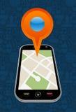 Стрелка карты города GPS Стоковая Фотография
