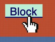 стрелка кнопки блока Стоковые Изображения RF