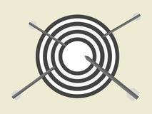 Стрелка направляет прицелиться концепция дела работы для достижения назначения Бой установки цели финишная черта стоковая фотография rf