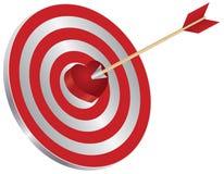 Стрелка на иллюстрации Bullseye сердца цели иллюстрация вектора