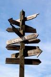 стрелка подписывает деревянное Стоковое фото RF