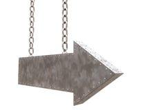 стрелка приковывает металл Стоковое фото RF
