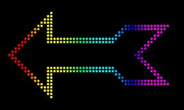 Стрелка против черной предпосылки Стоковое Изображение RF