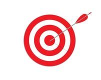 стрелка ударяя цель владение домашнего ключа принципиальной схемы дела золотистое достигая небо к Цель при стрелка, стоя на трено иллюстрация вектора