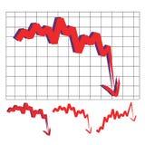 Стрелка фондового индекса иллюстрация штока