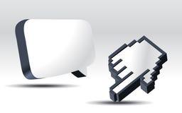 стрелка 3d иллюстрация вектора
