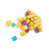стрелка cubes лоснистый сделанный символ стоковое изображение