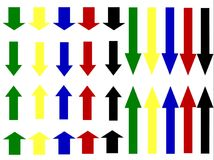 Стрелки вертикальные Стоковое фото RF