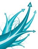 стрелки голубые Стоковое Изображение RF