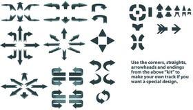 стрелки дирекционные иллюстрация штока