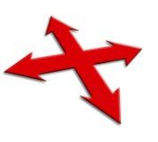стрелки красные Стоковая Фотография