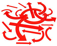 стрелки красные Стоковая Фотография RF