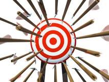 стрелки летая цель много к Стоковое Фото