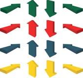 стрелки 3d иллюстрация вектора