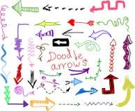 стрелки doodle установленный вектор Стоковое Фото