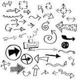 Стрелки Doodle Стоковые Изображения RF