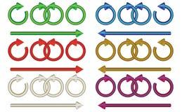 стрелки multicolor Стоковое Изображение RF