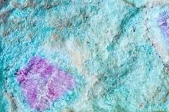 Стрельба макроса естественной драгоценной камня Текстура минерала aniolit с рубином абстрактная предпосылка Стоковое Изображение RF
