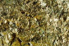 Стрельба макроса естественной драгоценной камня Текстура минерала арсенопирита абстрактная предпосылка Стоковые Фото