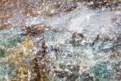 Стрельба макроса естественной драгоценной камня Текстура минерального апатита абстрактная предпосылка Стоковое Изображение