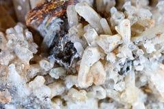 Стрельба макроса естественной драгоценной камня Текстура минерального кварца абстрактная предпосылка Стоковое Изображение