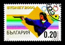 Стрельба, Олимпиады лета 2000, serie Сиднея, около 2000 стоковое фото