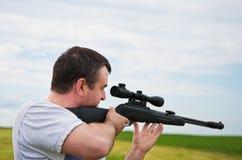 стрельба человека Стоковые Изображения RF