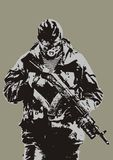 стрельба человека Стоковое Фото