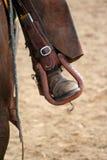 стременое родео s всадника ноги Стоковые Фотографии RF