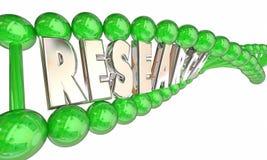 Стренга слова дна Biotech исследования медицинская Стоковые Изображения