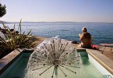 Стренга Триеста, Barcola свободные купая и прогулка, acti отдыха Стоковая Фотография RF