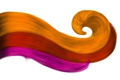Стренги нарисованные конспектом волос Стоковые Фотографии RF