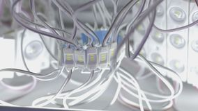 Стренги тонких изолированных обнажанных провода и СИД сток-видео