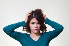 Стресс женщины Стоковая Фотография