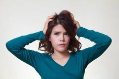 Стресс женщины Стоковая Фотография RF
