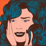 Стресс женщины стоковое изображение