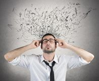 Стресс и запутанность стоковое фото