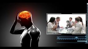 Стресс может причинить головные боли акции видеоматериалы