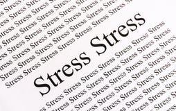Стресс на бумаге Стоковые Фотографии RF