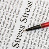 Стресс на бумаге Стоковая Фотография RF