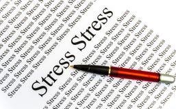 Стресс на бумаге Стоковые Изображения RF