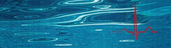 Стресс освобождает концепцию Управление стресса Ритм EKG сердца, ECG Стоковое фото RF