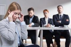 Стресс перед собеседованием для приема на работу Стоковая Фотография
