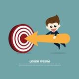 Стрелка бизнесмена бесплатная иллюстрация